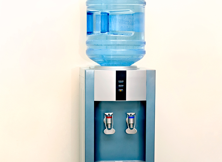 Water cooler near the wall