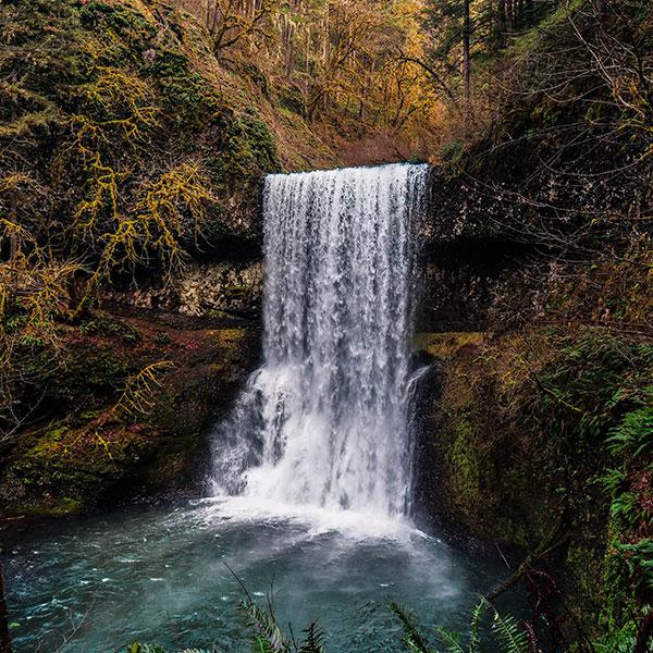 beautiful scenic waterfall
